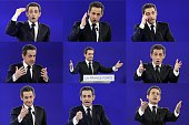 A combination made on March 13 2012 shows file images of France's incumbent president and Union for a Popular Movement candidate for 2012...