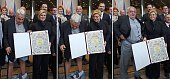 TOPSHOT A combination of pictures made on December 8 2015 shows Croatia's leading rights group chief Ivan Zvonimir Cicak's looking down and pulling...