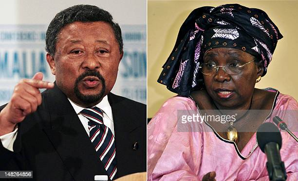 A combination of two pictures taken in 2012 shows current African Union chairman Gabonese diplomat Jean Ping and South Africa's former Foreign...