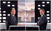 A combination omade on May 2 2012 shows two pictures of France's Socialist Party candidate for the 2012 French presidential election Francois...