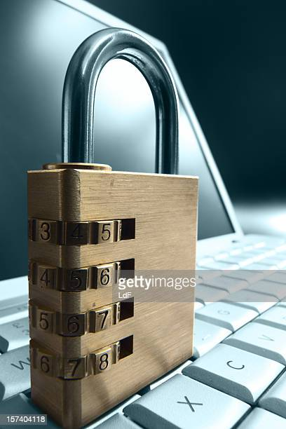 Combination Padlock on a Keyboard