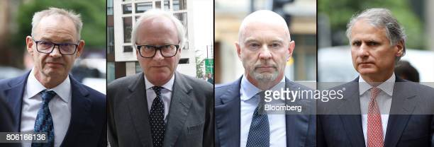 A combination photo shows left to right Richard Boath former deputy head of investment banking at Barclays Plc John Varley former chief executive...