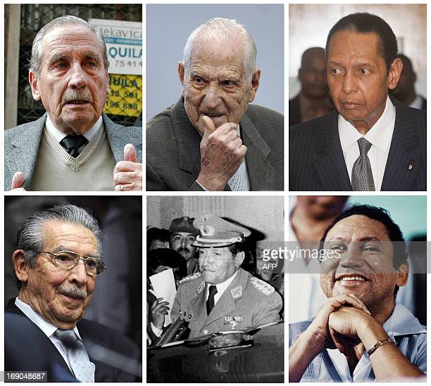 Combination picture of LatinAmerican and Caribbean former dictators who on May 17 2013 are still alive Uruguayan former dictator Gregorio Alvarez...