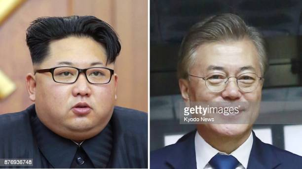Combined file photo shows North Korean leader Kim Jong Un and South Korean President Moon Jae In South Korea expressed hope on Nov 21 that the US...