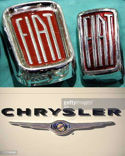A combo image showing the logos of Italian car manufacturer Fiat and US automobile heavyweight Chrysler Fiat and Chrysler took a major step towards...