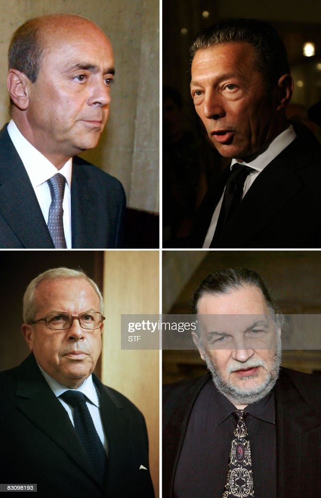 - A combo made in Paris on October 3, 2008 shows (From LtoR, From Top) French businessman Pierre Falcone, Israeli-Russian billionaire Arkady Gaydamak, <a gi-track='captionPersonalityLinkClicked' href=/galleries/search?phrase=Charles+Pasqua&family=editorial&specificpeople=701273 ng-click='$event.stopPropagation()'>Charles Pasqua</a>, son of former Interior Minister <a gi-track='captionPersonalityLinkClicked' href=/galleries/search?phrase=Charles+Pasqua&family=editorial&specificpeople=701273 ng-click='$event.stopPropagation()'>Charles Pasqua</a>, and Jean-Christophe Mitterrand, one of the sons of late French President Francois Mitterrand. Fourty-two persons, accused over arms sales to Angola, including Falcone, Gaydamak, Pasqua and Mitterrand, will appear before Paris Courthouse from October 6, 2008 in the 'Angolagate' trial. AFP PHOTO JOEL SAGET/FILES