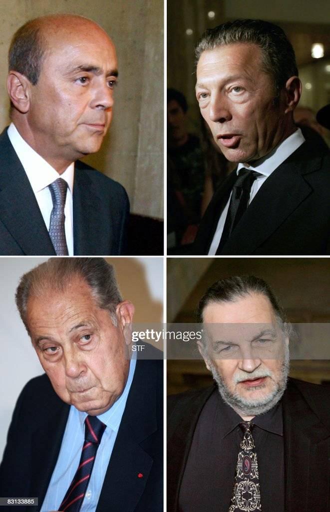 - A combo made in Paris on October 5, 2008 shows (From LtoR, From Top) French businessman Pierre Falcone, Israeli-Russian billionaire Arkady Gaydamak, <a gi-track='captionPersonalityLinkClicked' href=/galleries/search?phrase=Charles+Pasqua&family=editorial&specificpeople=701273 ng-click='$event.stopPropagation()'>Charles Pasqua</a>, former Interior Minister, and Jean-Christophe Mitterrand, one of the sons of late French President Francois Mitterrand. Fourty-two persons, accused over arms sales to Angola, including Falcone, Gaydamak, Pasqua and Mitterrand, will appear before Paris Courthouse from October 6, 2008 in the 'Angolagate' trial. AFP PHOTO JOEL SAGET/FILES