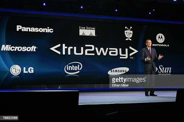 Comcast Corp Chairman and CEO Brian L Roberts talks about tru2way technology as he delivers a keynote address at the 2008 International Consumer...