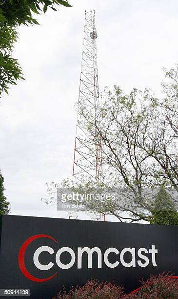 Comcast sign is seen outside its customer care center June 9 2004 in Romeoville Illinois Comcast Corp is reported to be in negotiations for the first...