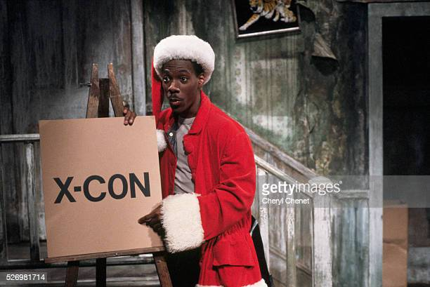 Comdeian Eddie Murphy plays a dubious Santa Claus in a sketch for 'Saturday Night Live'