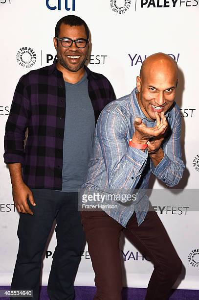 Comdeians Jordan Peele KeeganMichael Key arrive at The Paley Center For Media's 32nd Annual PALEYFEST LA A Salute To Comedy Central at Dolby Theatre...