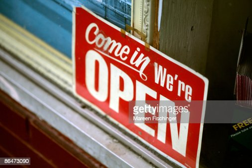 Come in, sign at store front