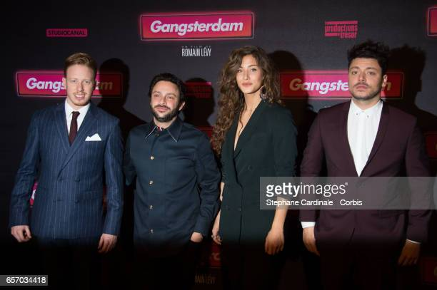 Come Levin Romain Levy Kev Adams and Manon Azem attend the 'Gangsterdam' Paris Premiere at Le Grand Rex on March 23 2017 in Paris France