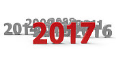 2017 come represents the new year 2017, three-dimensional rendering, 3D illustration