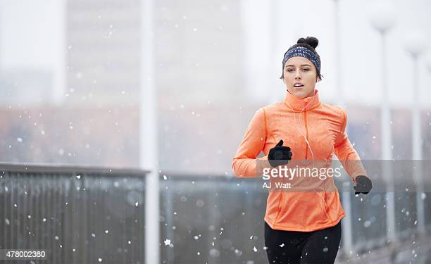 Come rain or shine...she'll keep running