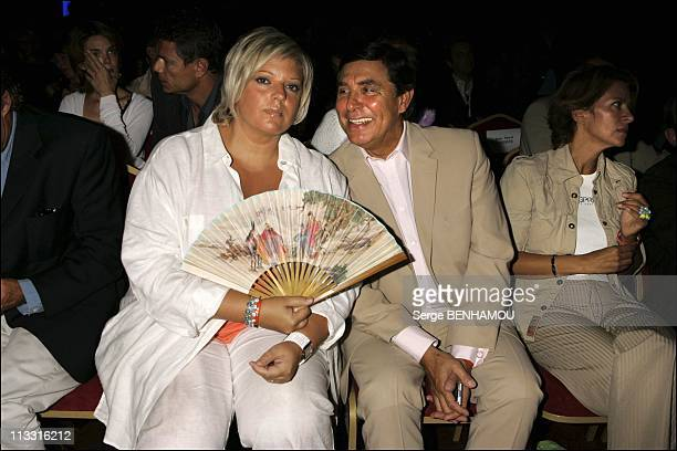 Comeback Presse Conference Of Tf1 On August 29Th 2005 In Paris France Here Laurence Boccolini And Jean Pierre Foucault