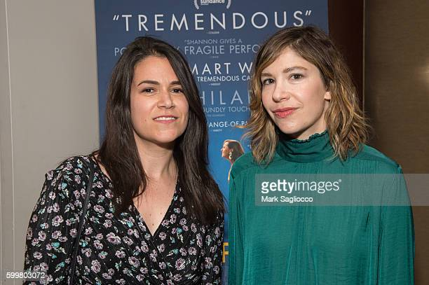 Comedian Abbi Jacobson and Kerri Bronson attend the 'Other People' New York Screening at Dolby 88 Theater on September 6 2016 in New York City