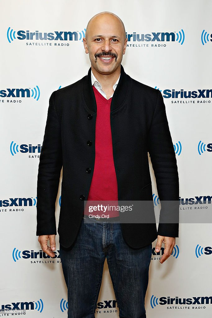 Comedian/ actor Maziyar <a gi-track='captionPersonalityLinkClicked' href=/galleries/search?phrase=Maz+Jobrani&family=editorial&specificpeople=886743 ng-click='$event.stopPropagation()'>Maz Jobrani</a> visits the SiriusXM Studios on December 5, 2013 in New York City.