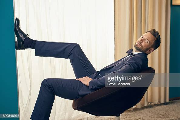 Comedian actor writer television producer and television host Joel McHale is photographed for Emmy magazine on September 18 2016 in Los Angeles...