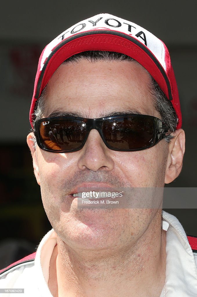 Comedian <a gi-track='captionPersonalityLinkClicked' href=/galleries/search?phrase=Adam+Carolla&family=editorial&specificpeople=226591 ng-click='$event.stopPropagation()'>Adam Carolla</a> attends the 37th Annual Toyota Pro/Celebrity Race qualifying on April 19, 2013 in Long Beach, California.