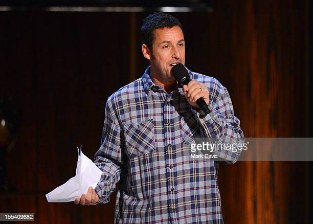 Comedian Adam Sandler onstage at Spike TV's 'Eddie Murphy One Night Only' at the Saban Theatre on November 3 2012 in Beverly Hills California