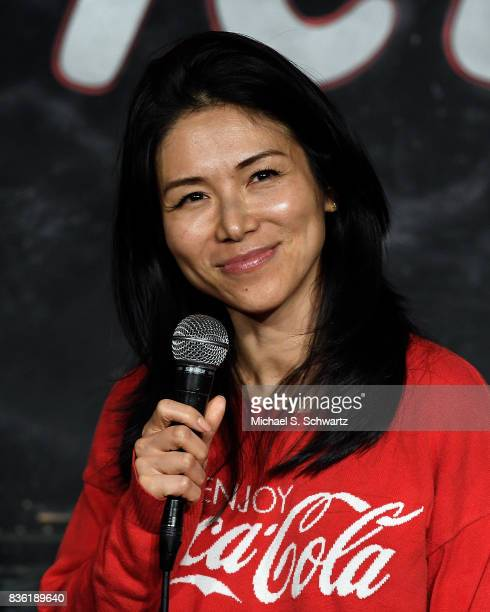 Comedian Aiko Tanaka performs during her appearance at The Ice House Comedy Club on August 20 2017 in Pasadena California