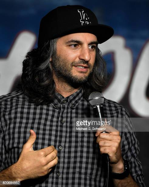 Comedian Amir Kamyab performs during his appearance at The Ice House Comedy Club on July 21 2017 in Pasadena California