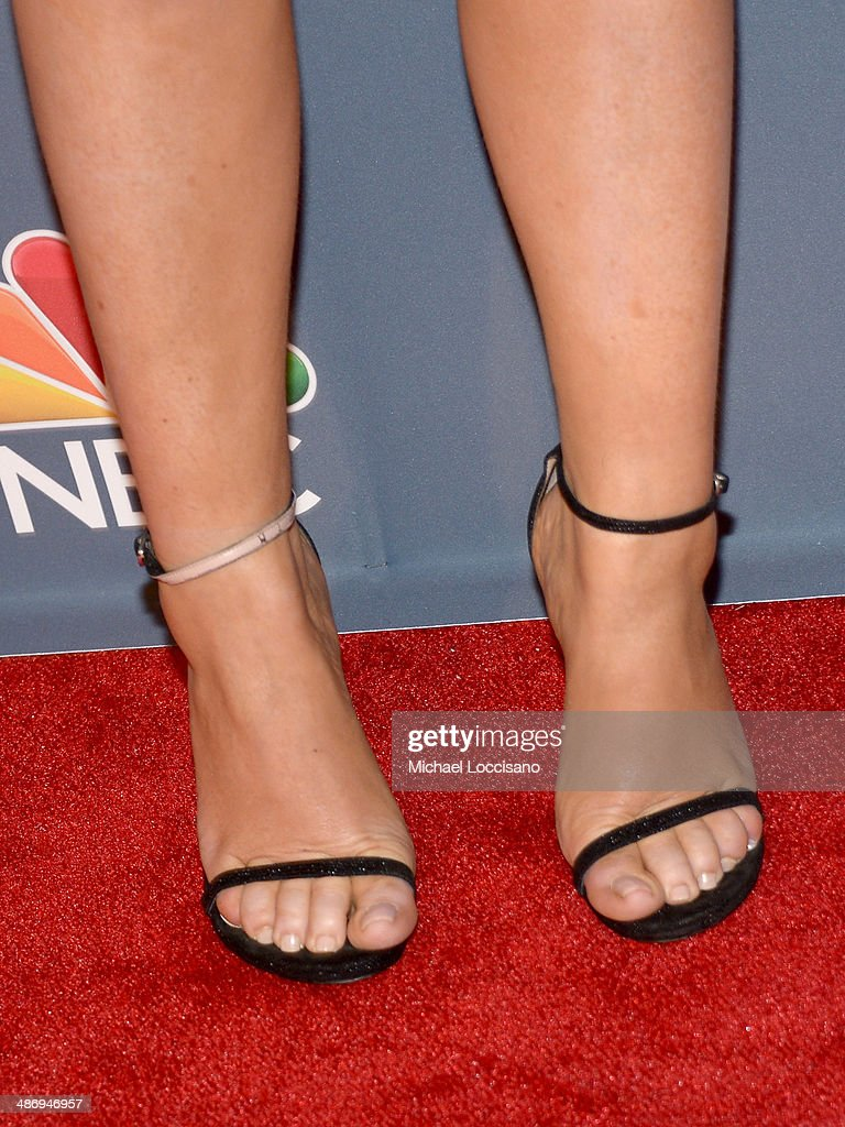 Comedian Amy Poehler (shoe detail) attends 2014 American Comedy Awards at Hammerstein Ballroom on April 26, 2014 in New York City.