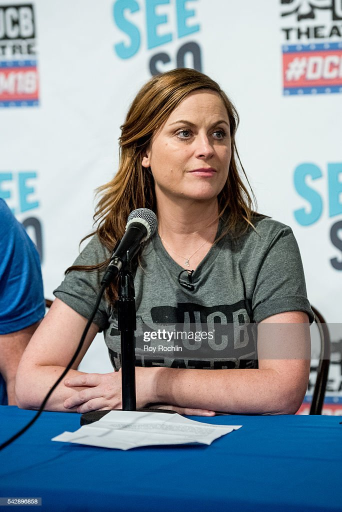 Comedian Amy Poehler attends the 18th Annual Del Close Improv Comedy Marathon Press Conference at Upright Citizens Brigade Theatre on June 24, 2016 in New York City.
