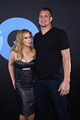 Comedian Amy Schumer and football player Rob Gronkowski attend GQ and LeBron James Celebrate AllStar Style on February 14 2015 in New York City
