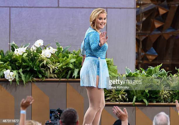 Comedian Amy Schumer appears at 'The Ellen Degeneres Show' Season 13 BiCoastal Premiere at Rockefeller Center on September 8 2015 in New York City