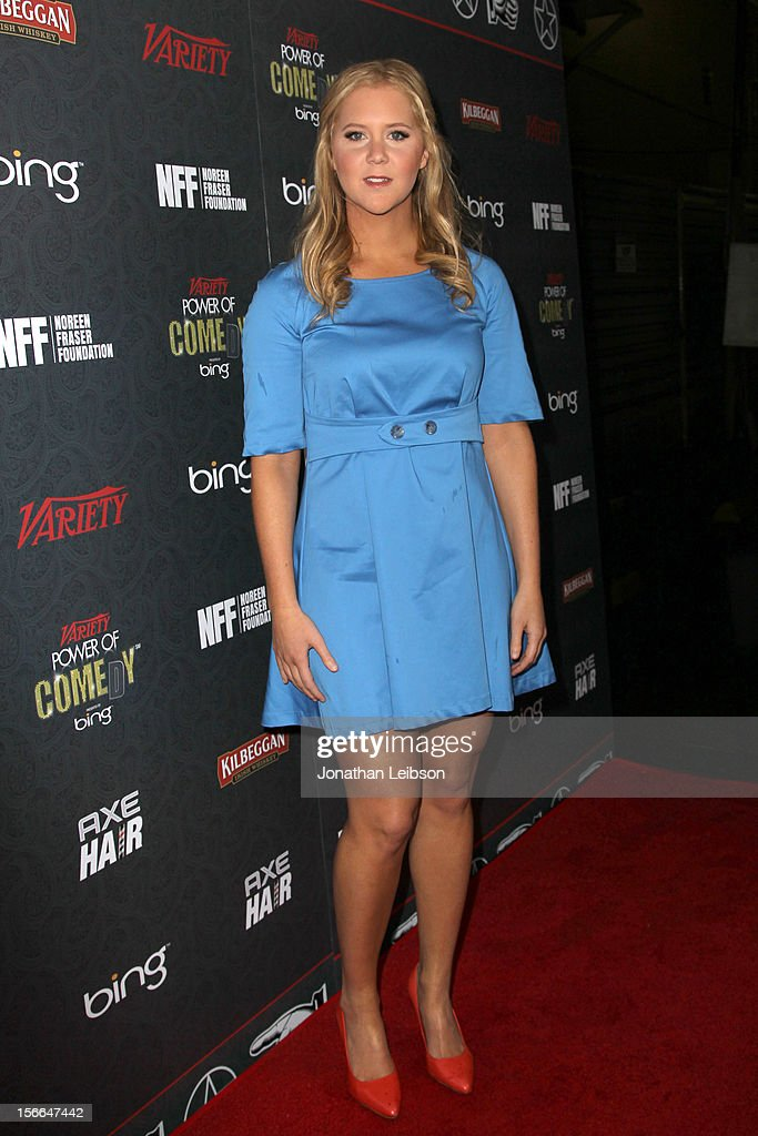 Comedian Amy Schumer arrives at Variety's 3rd annual Power of Comedy event presented by Bing benefiting the Noreen Fraser Foundation held at Avalon...