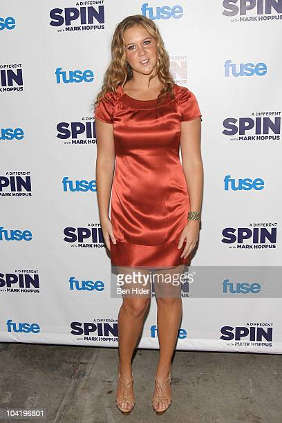 Comedian Amy Schumer attends the launch party for FUSE's 'A Different Spin With Mark Hoppus' at the MPD Restaurant on September 16 2010 in New York...