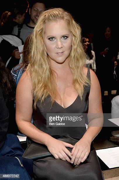 Comedian Amy Schumer attends the Narciso Rodriguez Spring 2016 fashion show during New York Fashion Week at SIR Stage 37 on September 15 2015 in New...