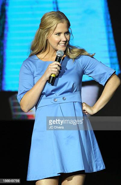 Comedian Amy Schumer speaks onstage at Variety's 3rd annual Power of Comedy event presented by Bing benefiting the Noreen Fraser Foundation held at...