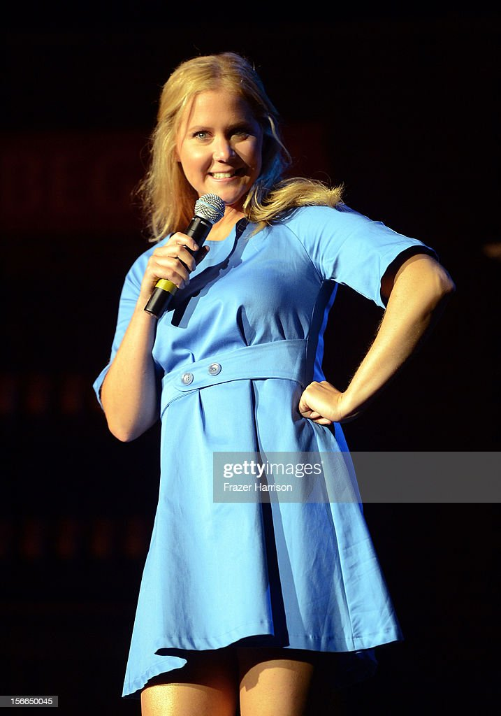 Comedian <a gi-track='captionPersonalityLinkClicked' href=/galleries/search?phrase=Amy+Schumer&family=editorial&specificpeople=4680682 ng-click='$event.stopPropagation()'>Amy Schumer</a> speaks onstage at Variety's 3rd annual Power of Comedy event presented by Bing benefiting the Noreen Fraser Foundation held at Avalon on November 17, 2012 in Hollywood, California.