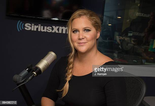 Comedian Amy Schumer visits SiriusXM at SiriusXM Studio on August 23 2016 in New York City