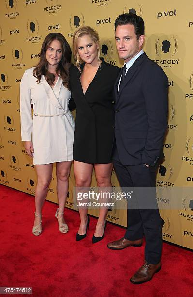 Comedian Amy Schumerb and Producer Kim Caramele attend The 74th Annual Peabody Awards Ceremony at Cipriani Wall Street on May 31 2015 in New York City