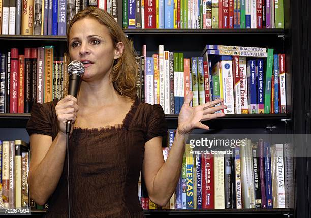Comedian Amy Sedaris answers audience questions before signing copies of her cookbook 'I Like You Hospitality Under the Influence' at Book Soup on...
