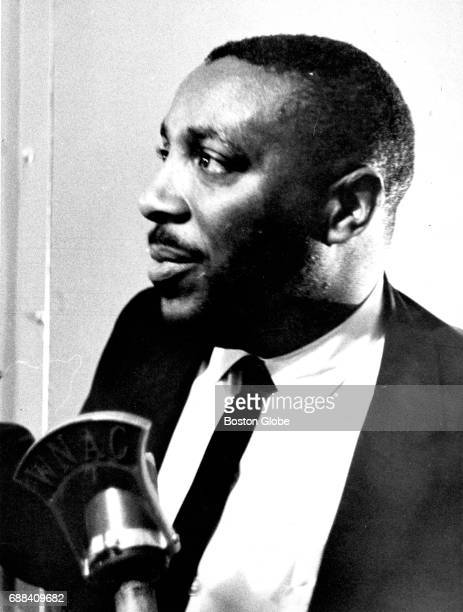 Comedian and activist Dick Gregory is pictured at a rally in preparation for a Boston Freedom StayOut boycott at the Donnelly Memorial Theater in...