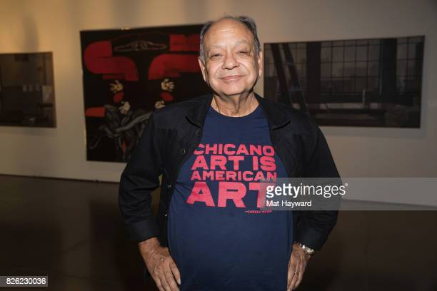 Comedian and actor Cheech Marin poses for a photo during the Seattle Art Fair at CenturyLink Field on August 3 2017 in Seattle Washington