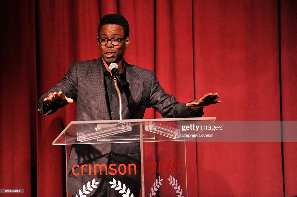 Comedian and actor Chris Rock speaks onstage at the 2012 New York Film Critics Circle Awards at Crimson on January 7, 2013 in New York City.