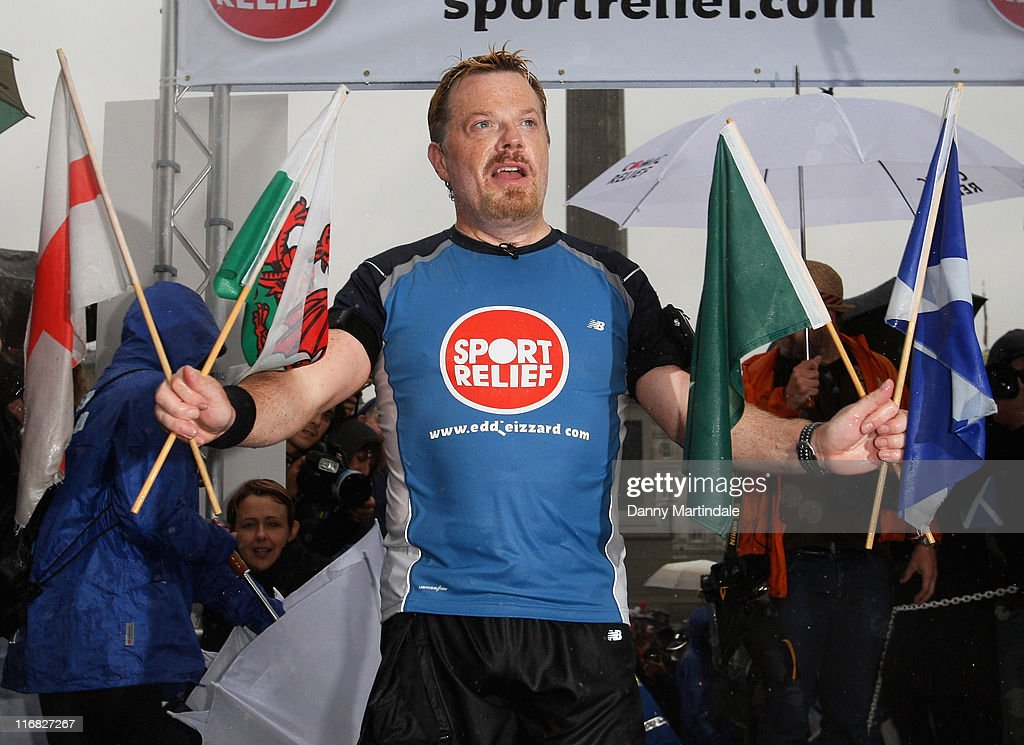 Eddie Izzard Completes 1,000 Mile Seven Week Marathon Run for Sport Relief