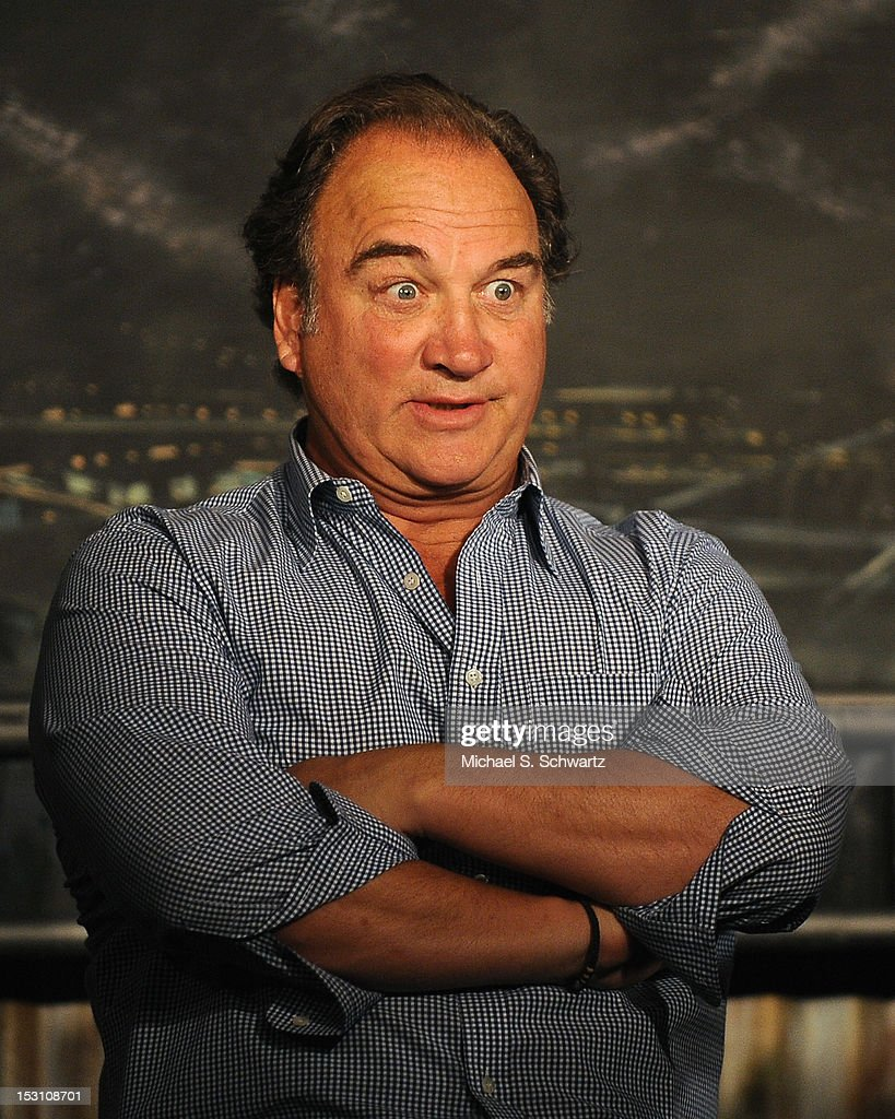 Comedian and actor <a gi-track='captionPersonalityLinkClicked' href=/galleries/search?phrase=Jim+Belushi&family=editorial&specificpeople=215411 ng-click='$event.stopPropagation()'>Jim Belushi</a> performs during the Chicago Board of Improv Comedy Show at The Ice House Comedy Club on September 29, 2012 in Pasadena, California.