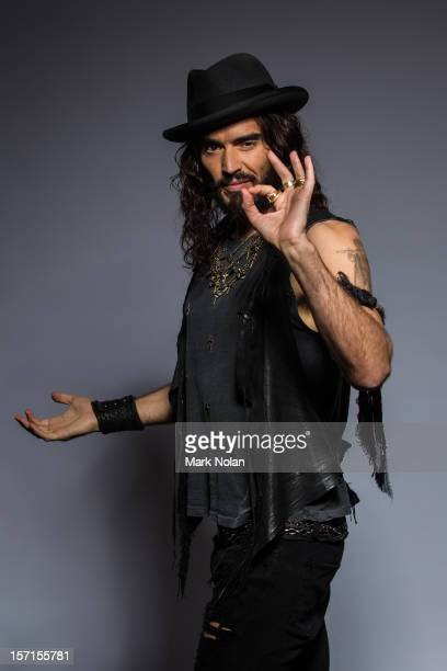 Comedian and actor Russell Brand poses at the 26th Annual ARIA Awards 2012 at the on November 29 2012 in Sydney Australia