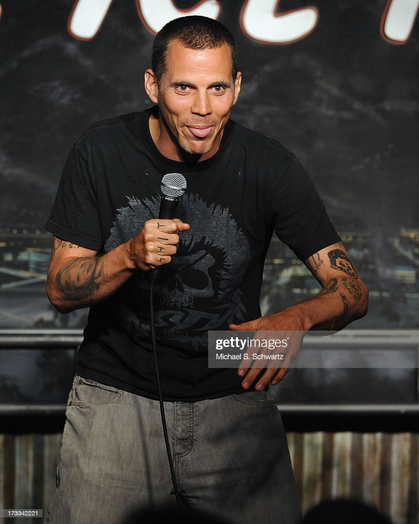 Comedian and actor Steve O performs during his appearance at The Ice House Comedy Club on July 11, 2013 in Pasadena, California.