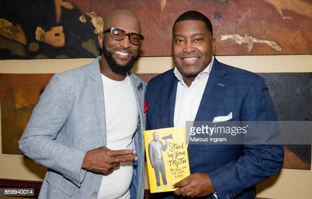 Comedian and author Rickey Smiley and Dr E Dewey Smith attends The House Of Hope Atlanta to promote Rickey Smiley's book tour 'Stand By Your Truth'...