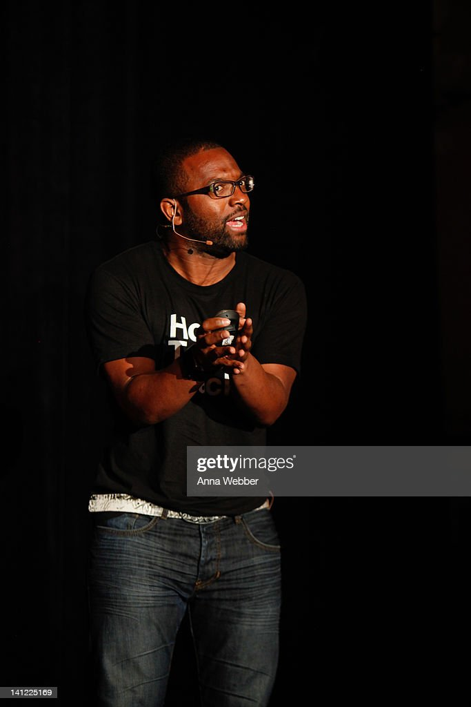 Comedian and Director of Digital at the Onion Baratunde Thurston speaks during TED At SXSW Presented By HTC - Day 2 at The Driskill Hotel on March 12, 2012 in Austin, Texas.
