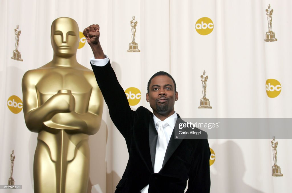 Comedian and host Chris Rock poses backstage during the 77th Annual Academy Awards on February 27 2005 at the Kodak Theater in Hollywood California