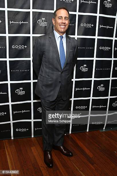 Comedian and host Jerry Seinfeld attends the New York Fatherhood Lunch to benefit the GOOD Foundation on October 18 2016 in New York City